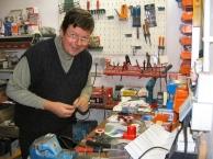 My dad in his workshop