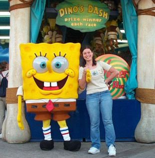 Meeting Spongebob at Planet Hollywood